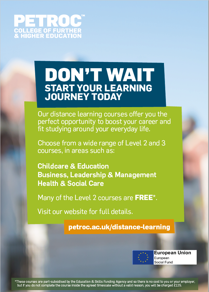 petroc online learning advert
