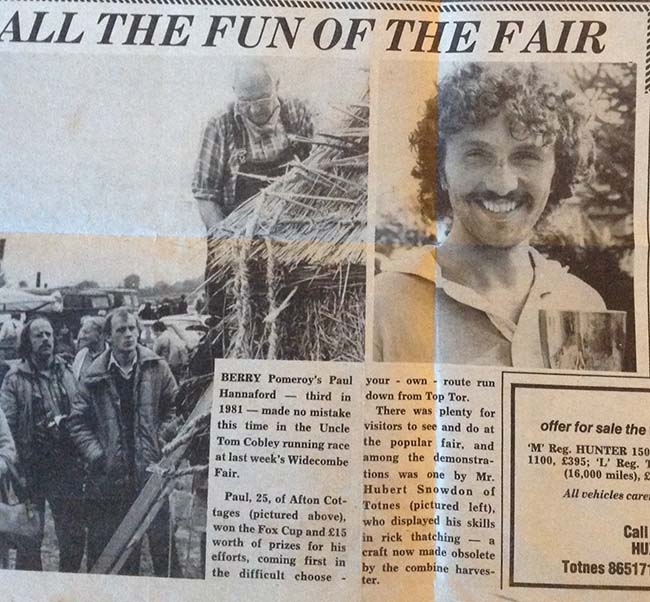 Widecombe Fair cross country results 1970s