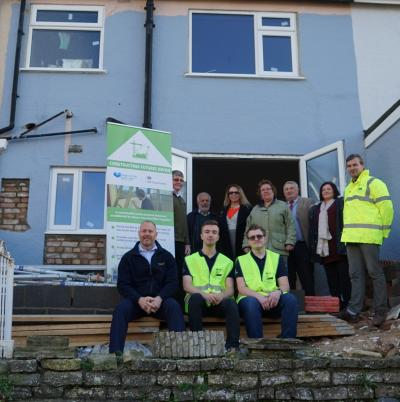irst constructing futures property in torquay, group shot with apprentices and all supporters