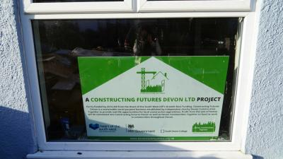 Window board at Constructing Futures Devon project