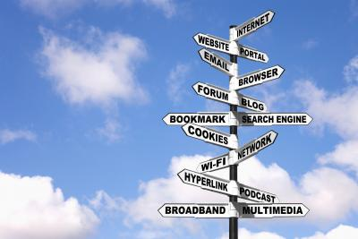 marketing words signpost