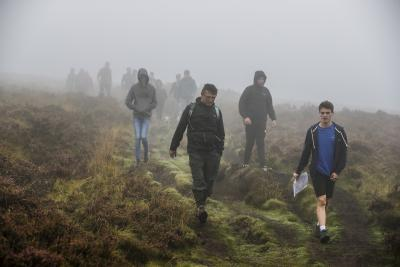Walkers brave the misty conditions on the Walk for Widecombe