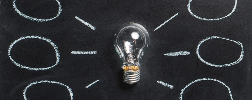 lightbulb and chalk board ideas image