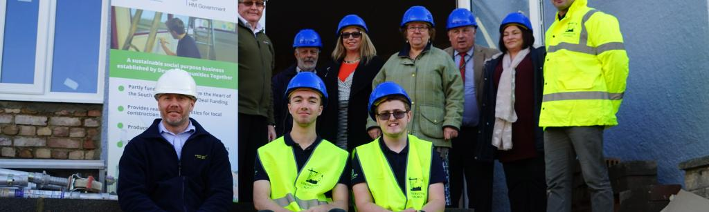 First constructing futures property in torquay, group shot with apprentices and all supporters