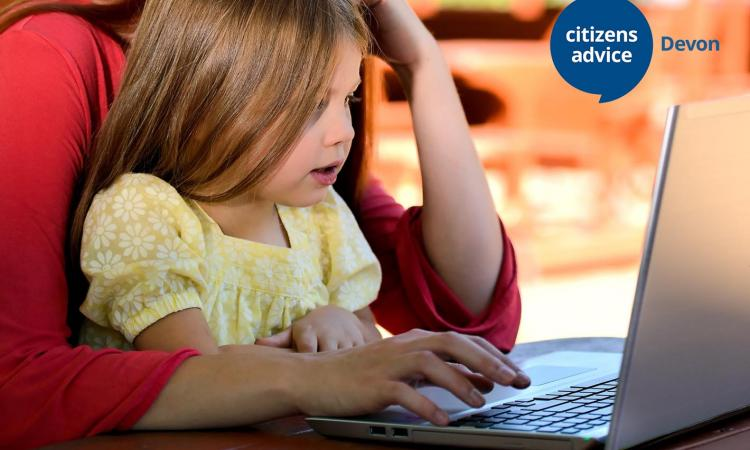 DLA image, child at laptop