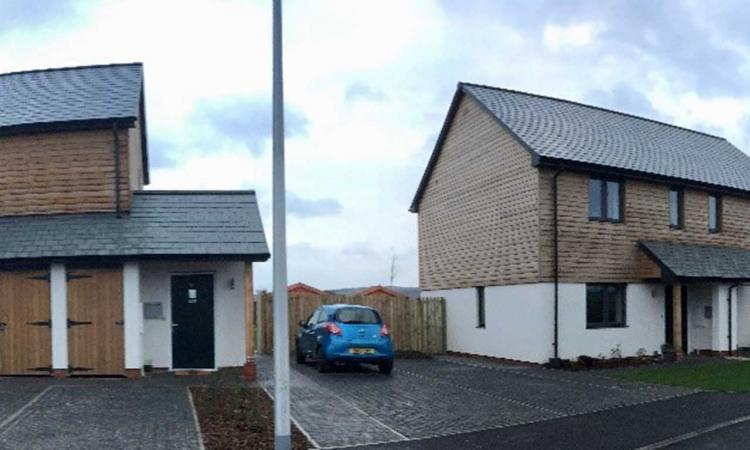 Hastoe - rural housing development at Cheriton Bishop