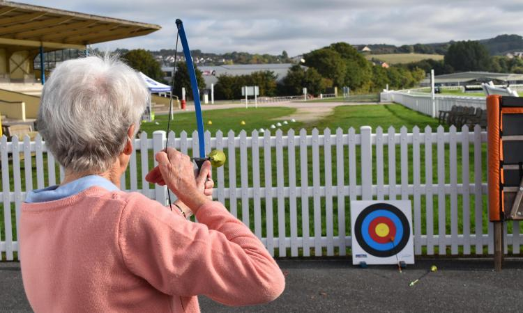 older woman archery