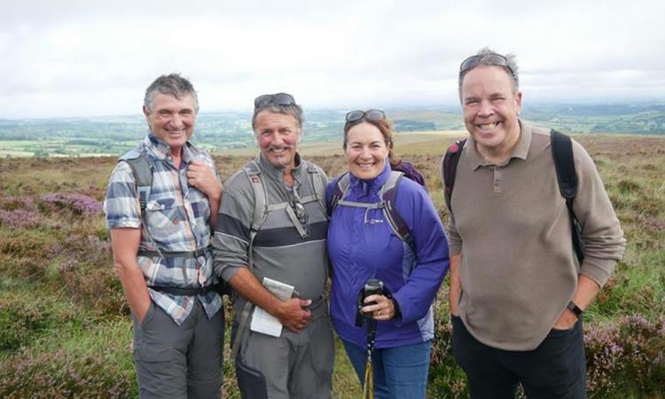 Jimmy Frost and walkers for Walk for WIdecombe