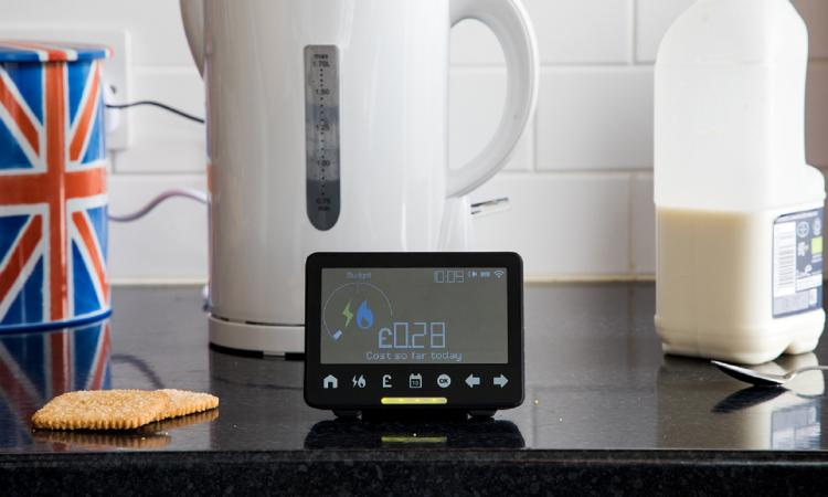 Smart Meter, kettle and kitchen worktop