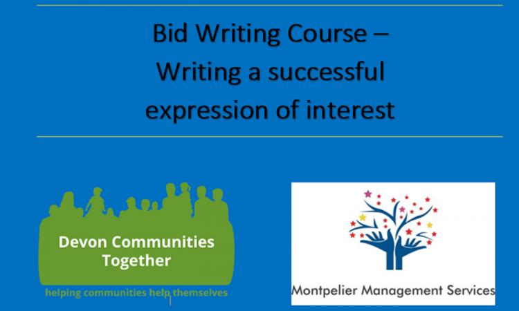 Bid Writing -  Expression of Interest